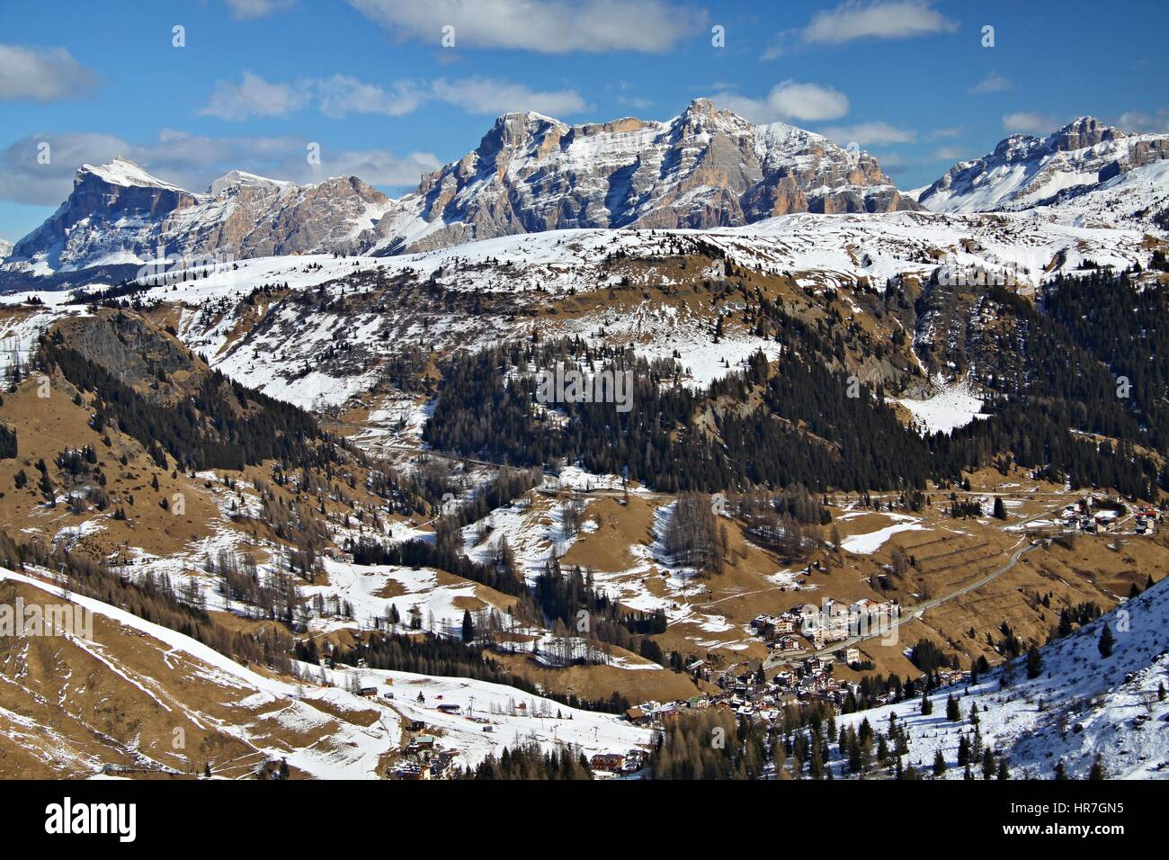 End of winter in the dolomites view from the top forcella for Best view of dolomites
