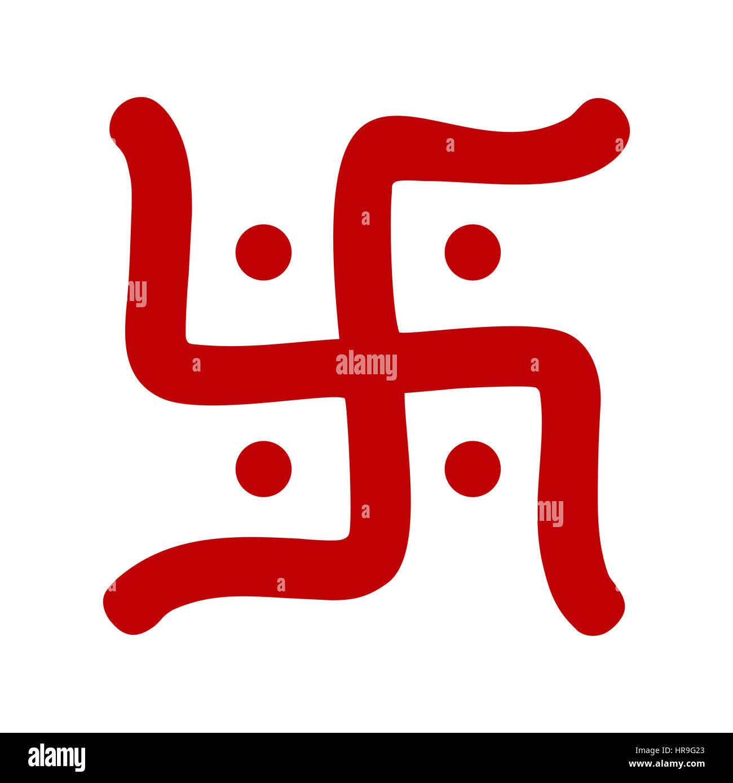 Red hindu swastika religious symbol over white stock photo red hindu swastika religious symbol over white biocorpaavc Choice Image