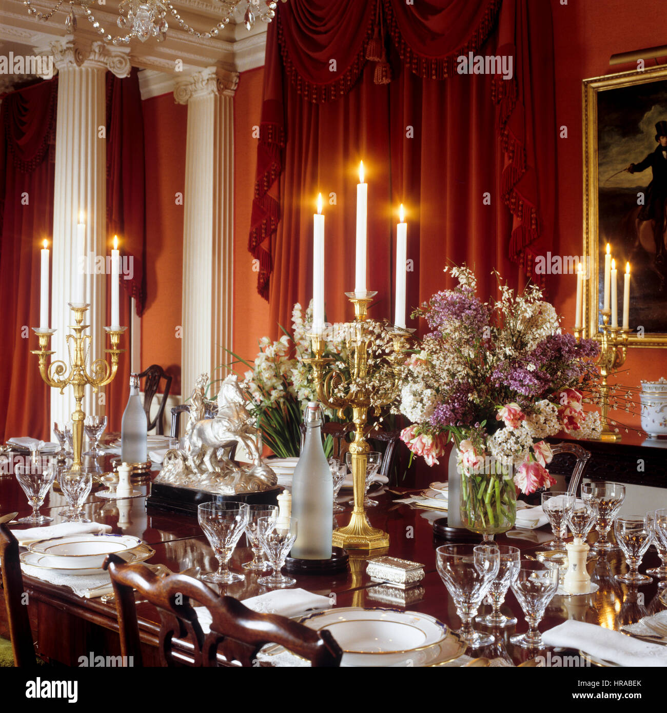 Georgian Dining Room Stock Photo 134838219