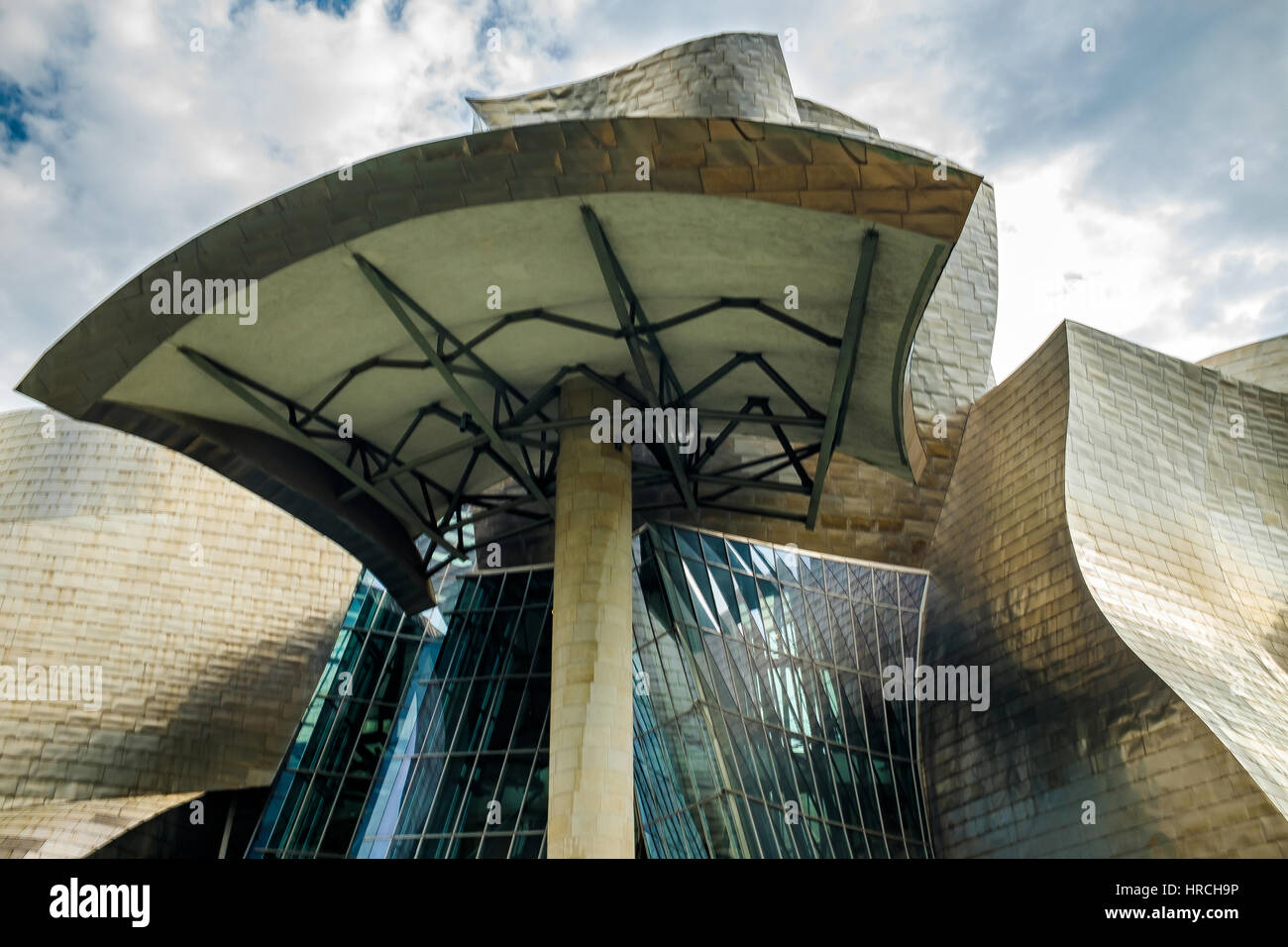 Curved Architecture Curved Architecture Structure With Shiny Walls And Bent Glass