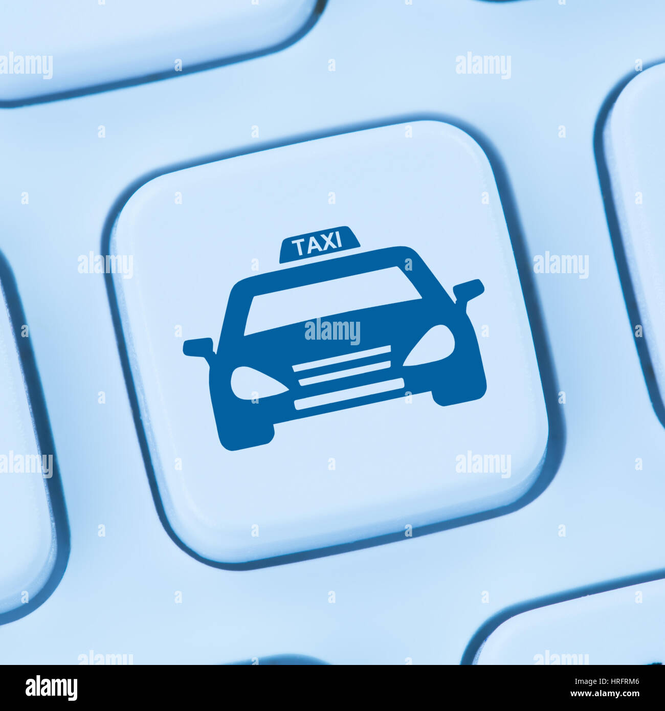 Book taxi cab online internet booking blue computer web keyboard ...