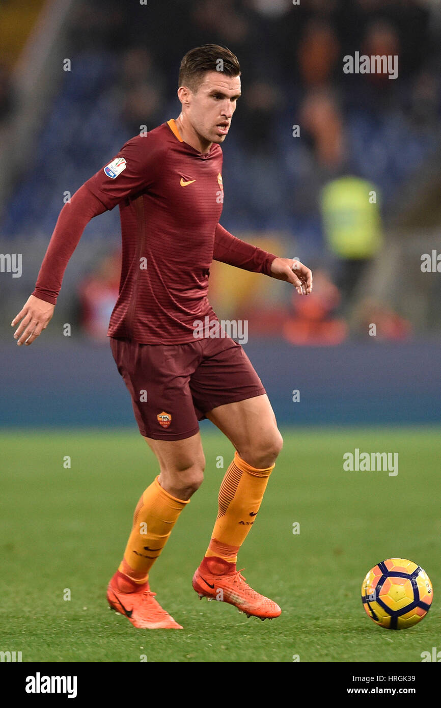 Rome Italy 1st Mar 2017 Kevin Strootman of Rome in action