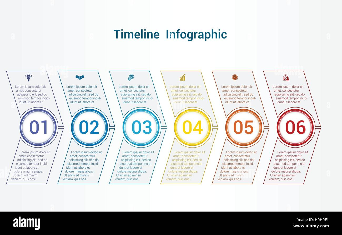 Timeline Or Area Chart Diagram Data Elements For Template Stock - Timeline chart template