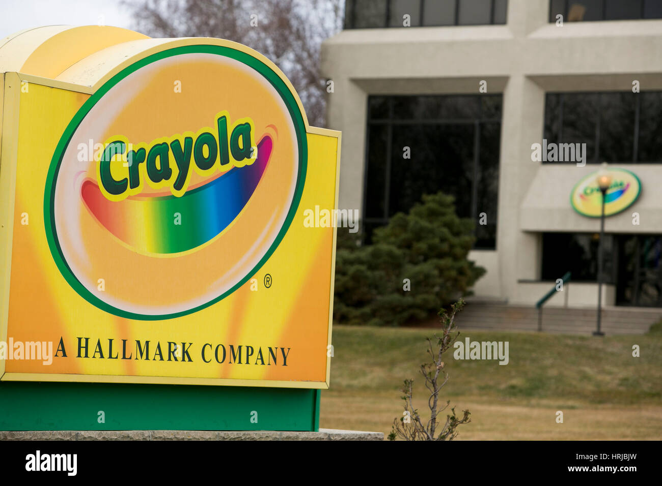 a logo sign outside of the headquarters of crayola in easton pennsylvania on february 26 - Crayola Sign