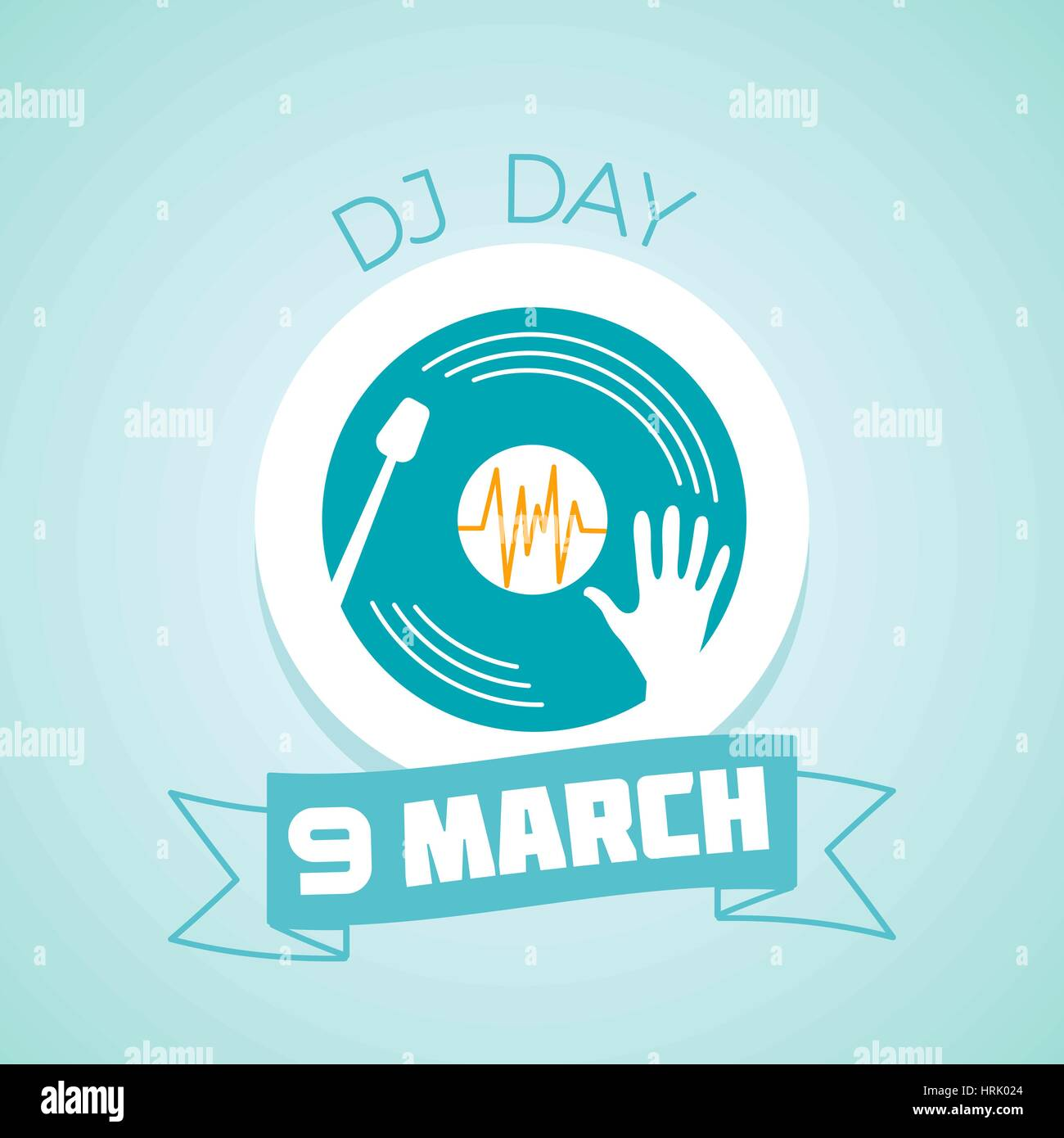 Calendar for each day on march 9 greeting card holiday dj day calendar for each day on march 9 greeting card holiday dj day icon in the linear style kristyandbryce Images