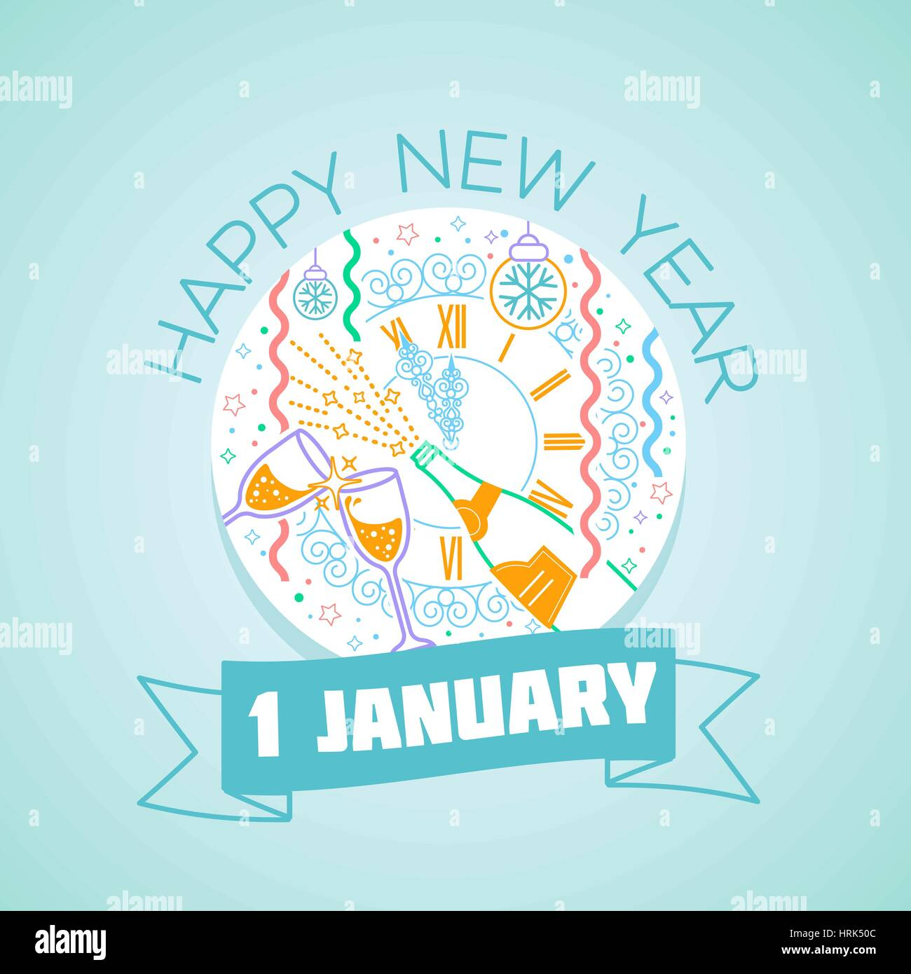 Calendar for each day on january 1 greeting card holiday happy calendar for each day on january 1 greeting card holiday happy new year icon in the linear style kristyandbryce Images