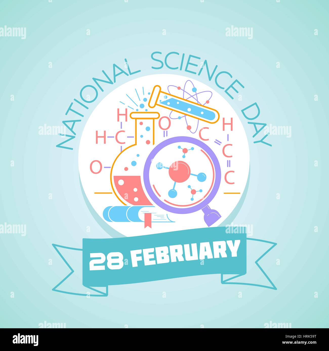 Calendar for each day on february 28 greeting card holiday stock calendar for each day on february 28 greeting card holiday national science day icon in the linear style kristyandbryce Images
