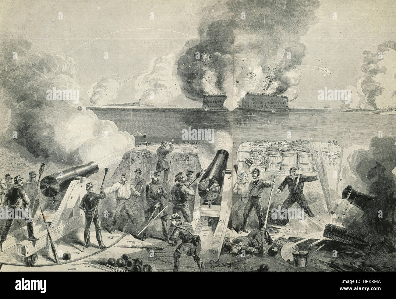 Battle of Fort Sumter, 1861 Stock Photo, Royalty Free Image ...
