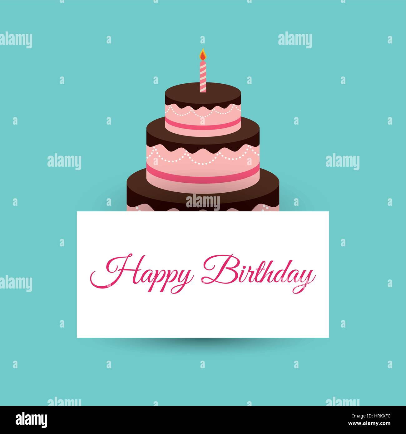 happy birthday cake card party event Vector Art – Happy Birthday Cake Greetings