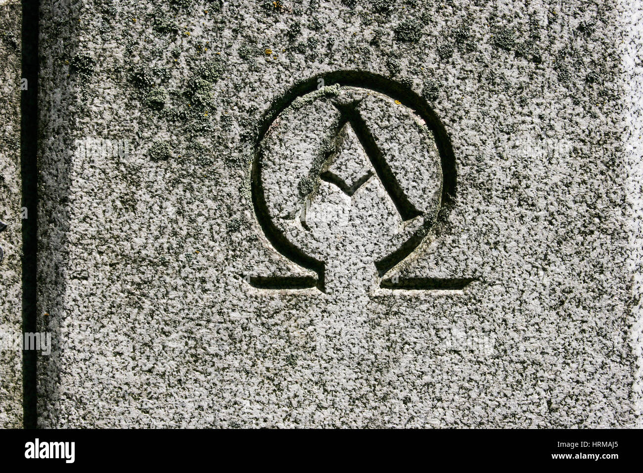Alpha omega symbol stock photos alpha omega symbol stock images alpha omega symbol carved in grey granite stone stock image buycottarizona