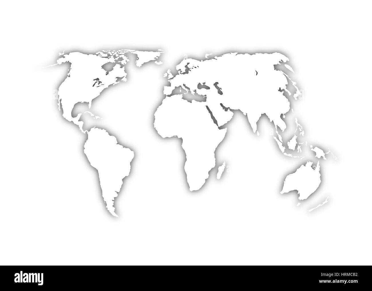 World map on grey background stock photo royalty free image world map on grey background gumiabroncs Image collections