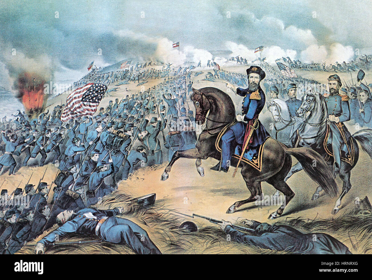 American Civil War Battle Of Fort Donelson 1862 Stock Image