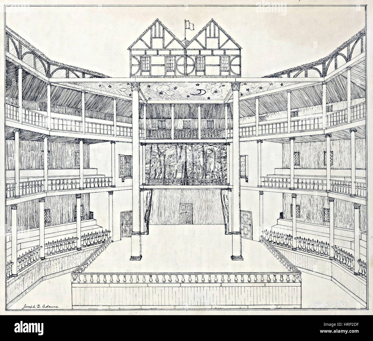 shakespeare 39 s globe theatre reconstruction stock photo. Black Bedroom Furniture Sets. Home Design Ideas