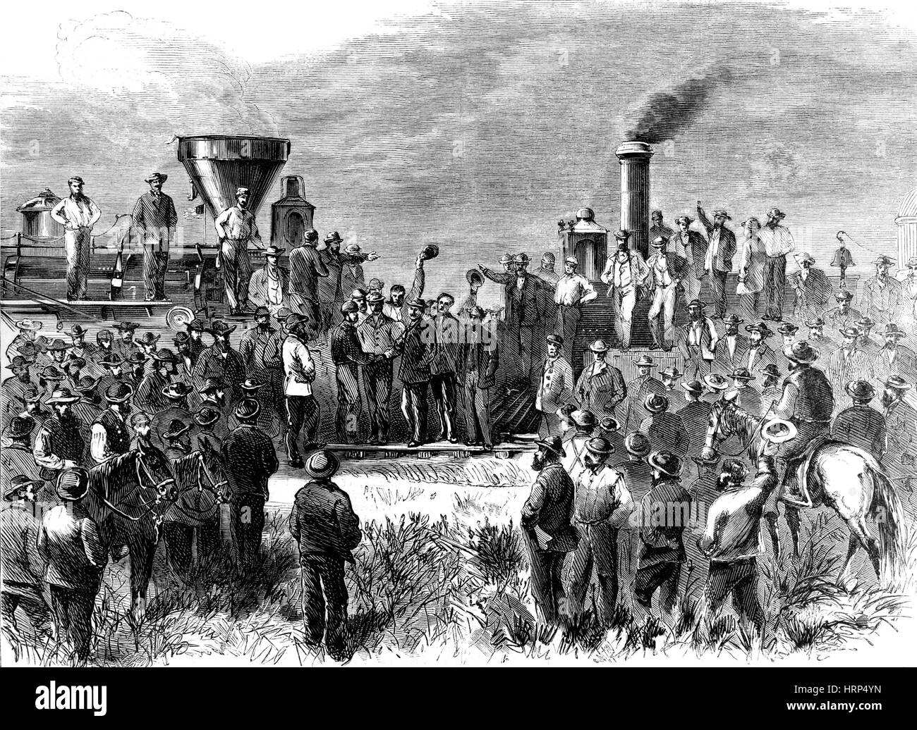 Completion of Transcontinental Railroad, 1869 Stock Photo, Royalty ...