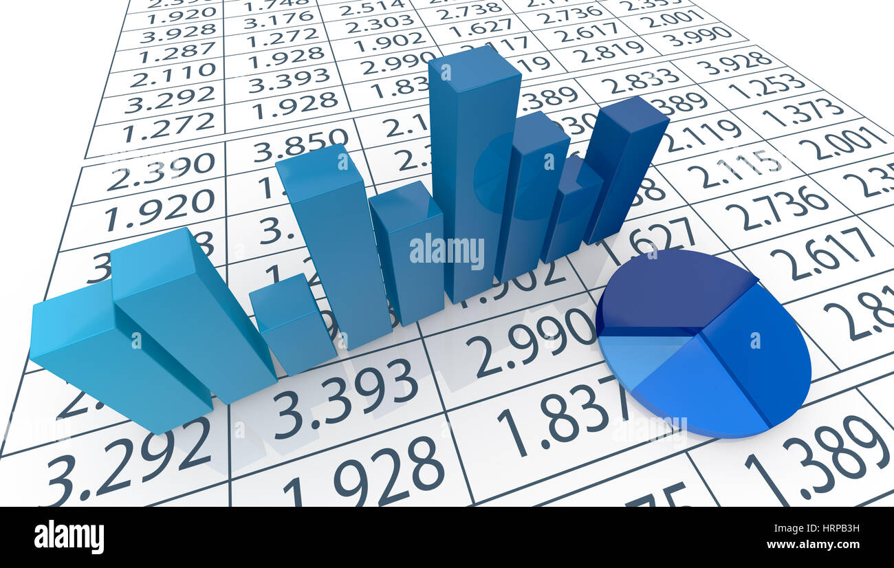 Close up view of bar chart pie chart and a spreadsheet 3d render stock photo close up view of bar chart pie chart and a spreadsheet 3d render nvjuhfo Image collections