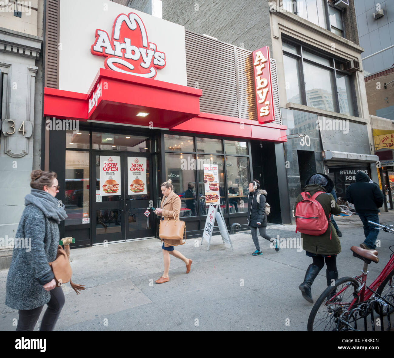 the new arby's fast casual restaurant in chelsea in new york on