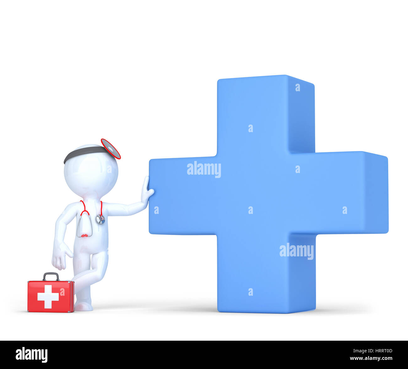 3d doctor with blue medical cross symbol isolated over white 3d doctor with blue medical cross symbol isolated over white contains clipping path buycottarizona