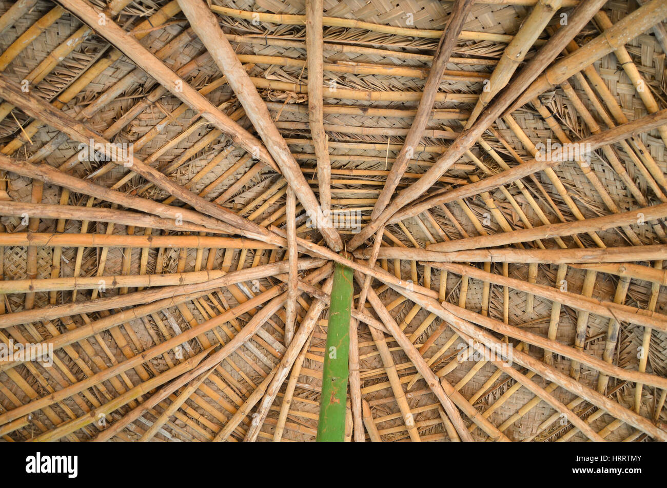 Woven roof background texture image of woven straw for Bamboo roofing materials