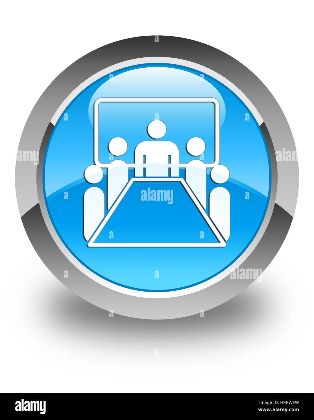 Round table meeting icon - Meeting Room Icon Isolated On Glossy Cyan Blue Round Button Abstract Illustration Stock Image