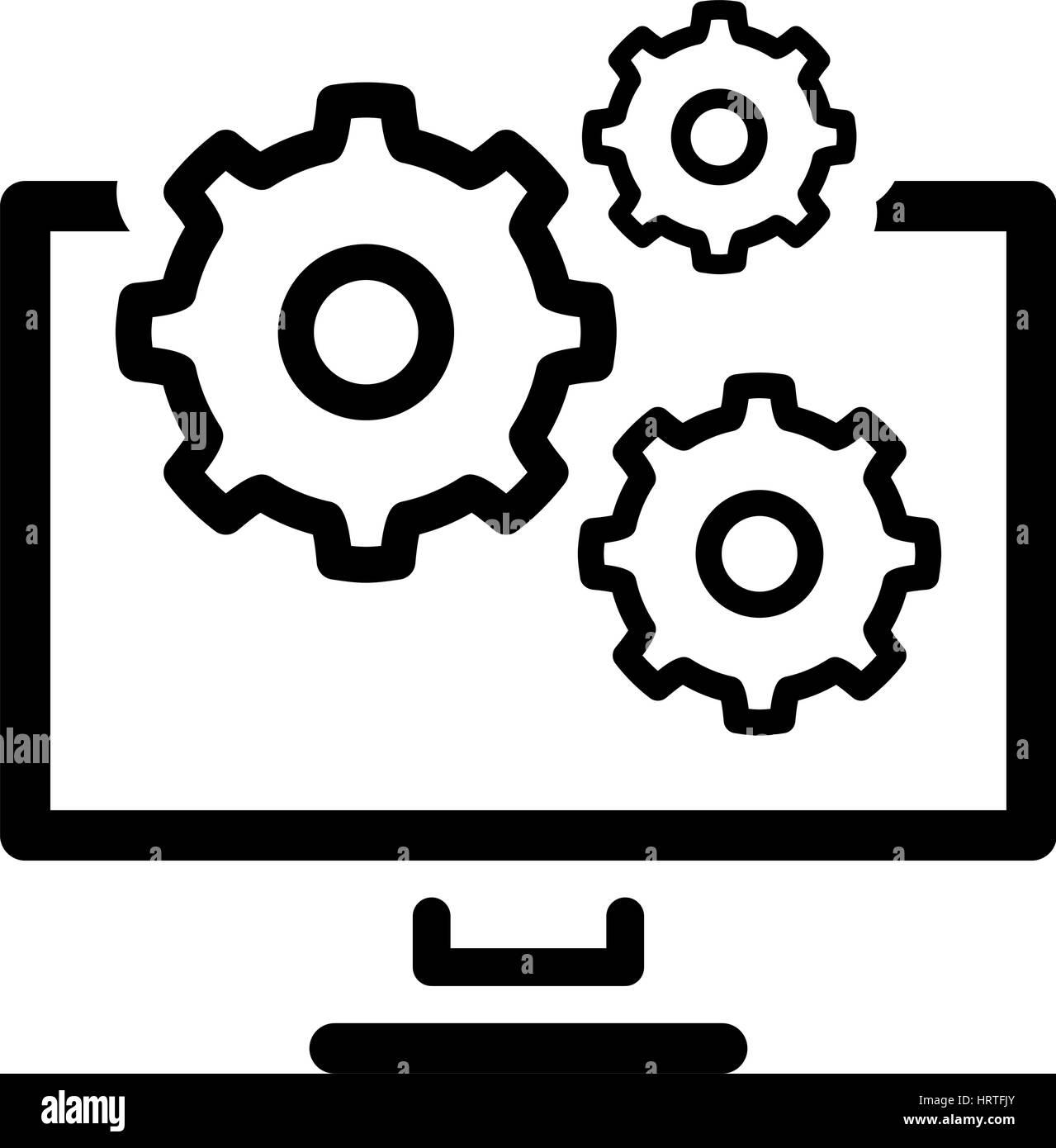 Data management icon flat design stock vector art illustration data management icon flat design biocorpaavc