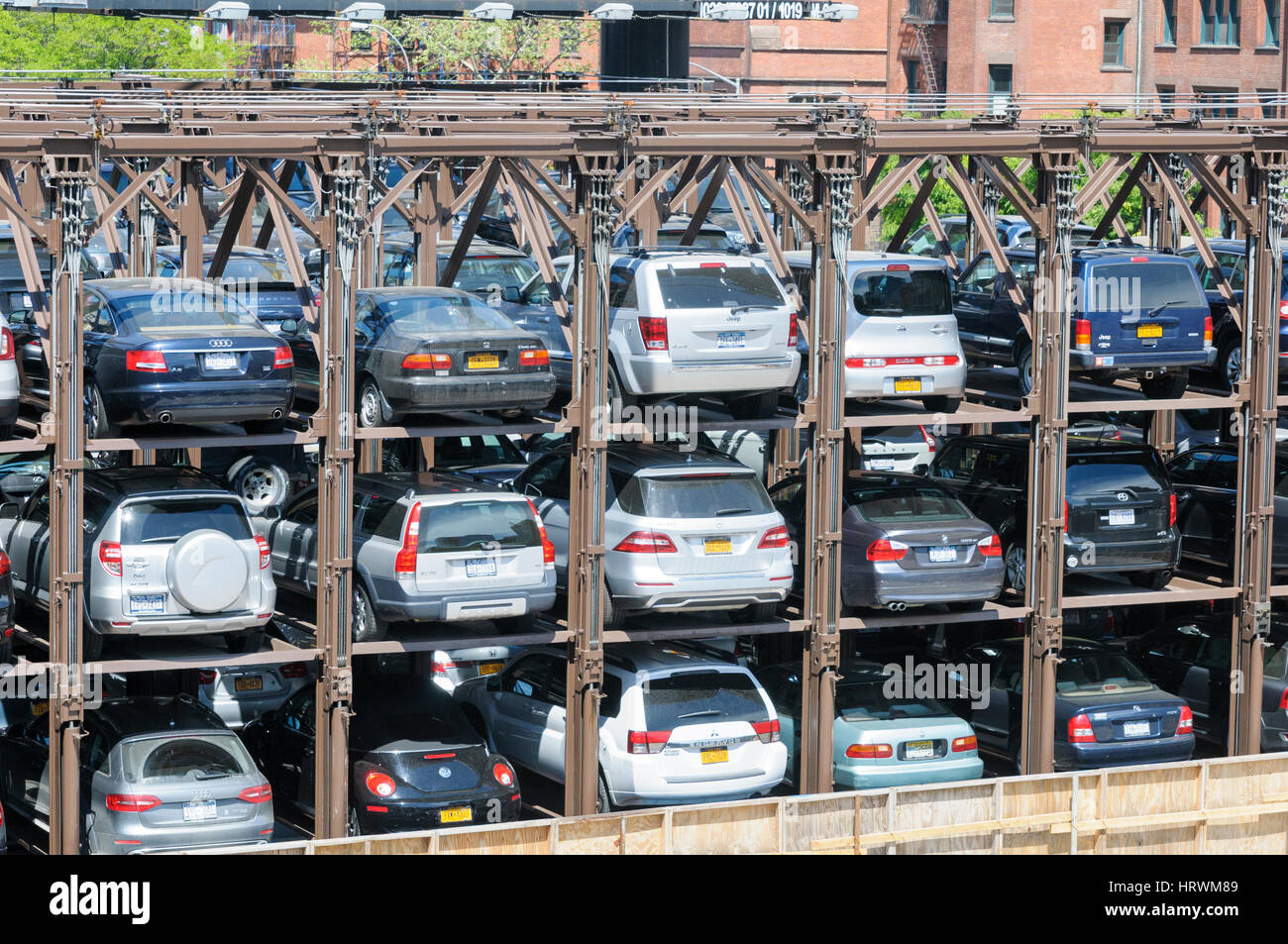Car park stacked parking garage 10th avenue chelsea for New york city parking garage