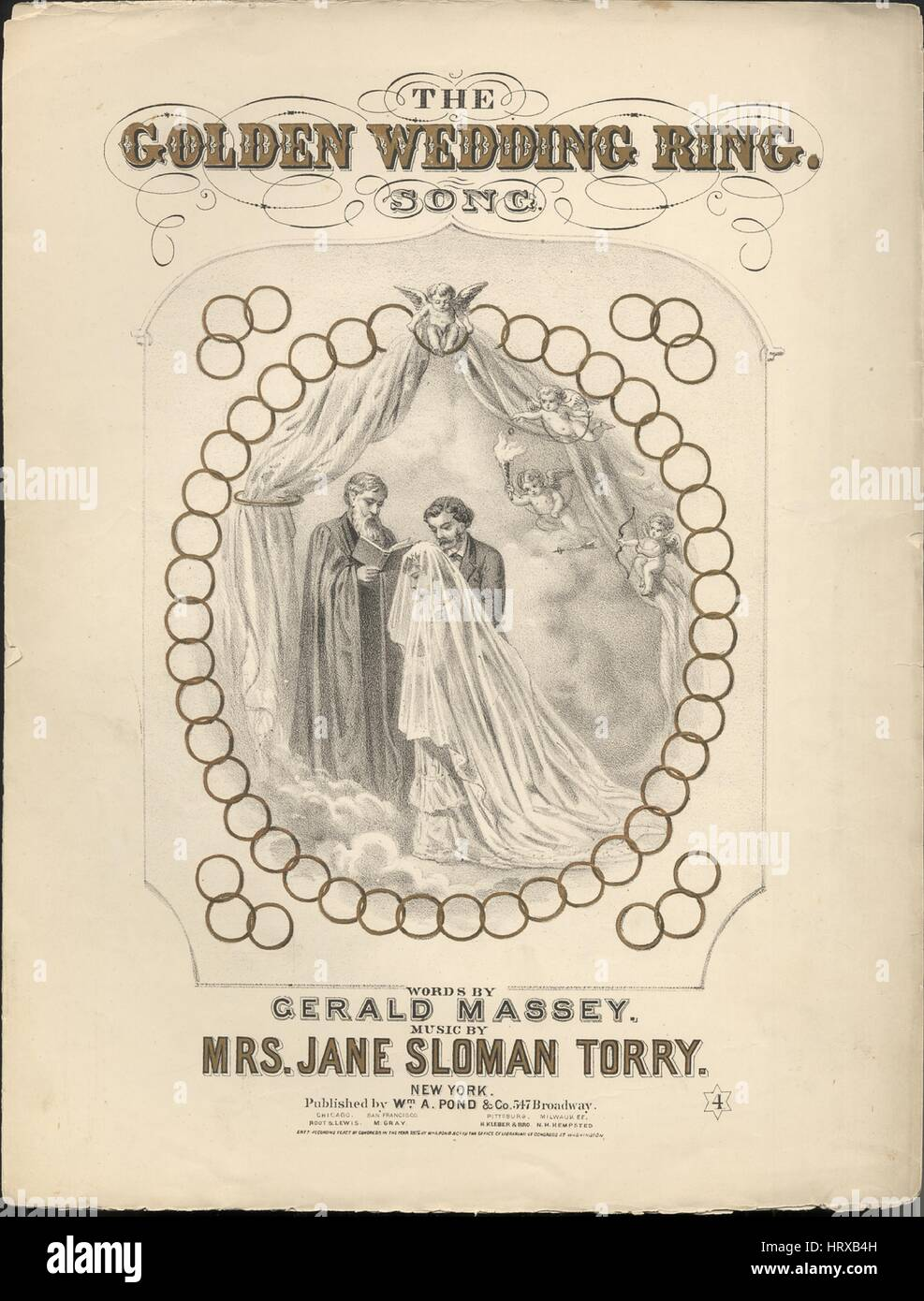 Sheet music cover image of the song The Golden Wedding Ring Song