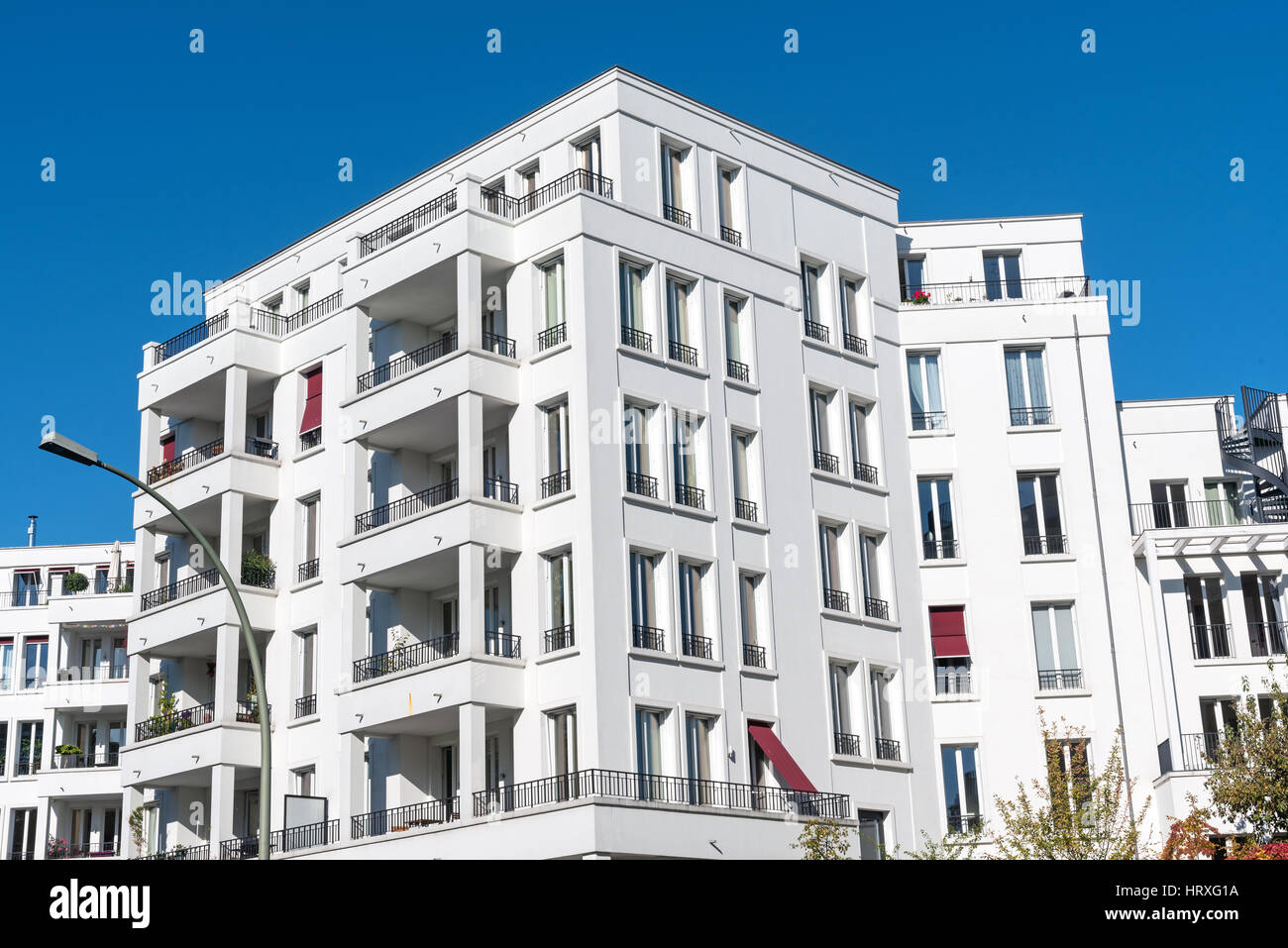 Apartment Houses White Modern Apartment Houses Seen In Berlin Germany Stock Photo