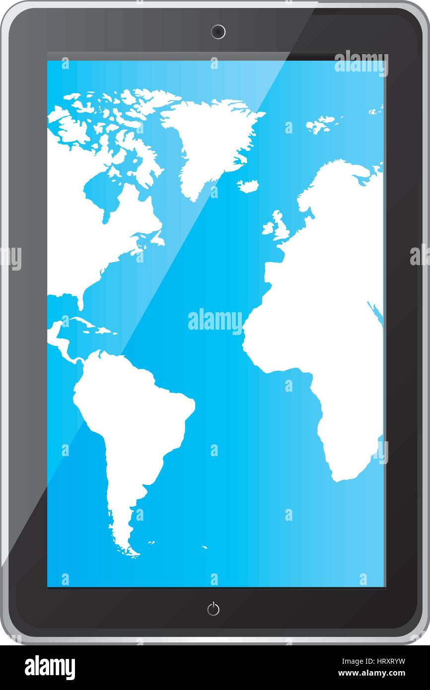 Color silhouette tablet in vertical position and world map wallpaper color silhouette tablet in vertical position and world map wallpaper gumiabroncs Gallery