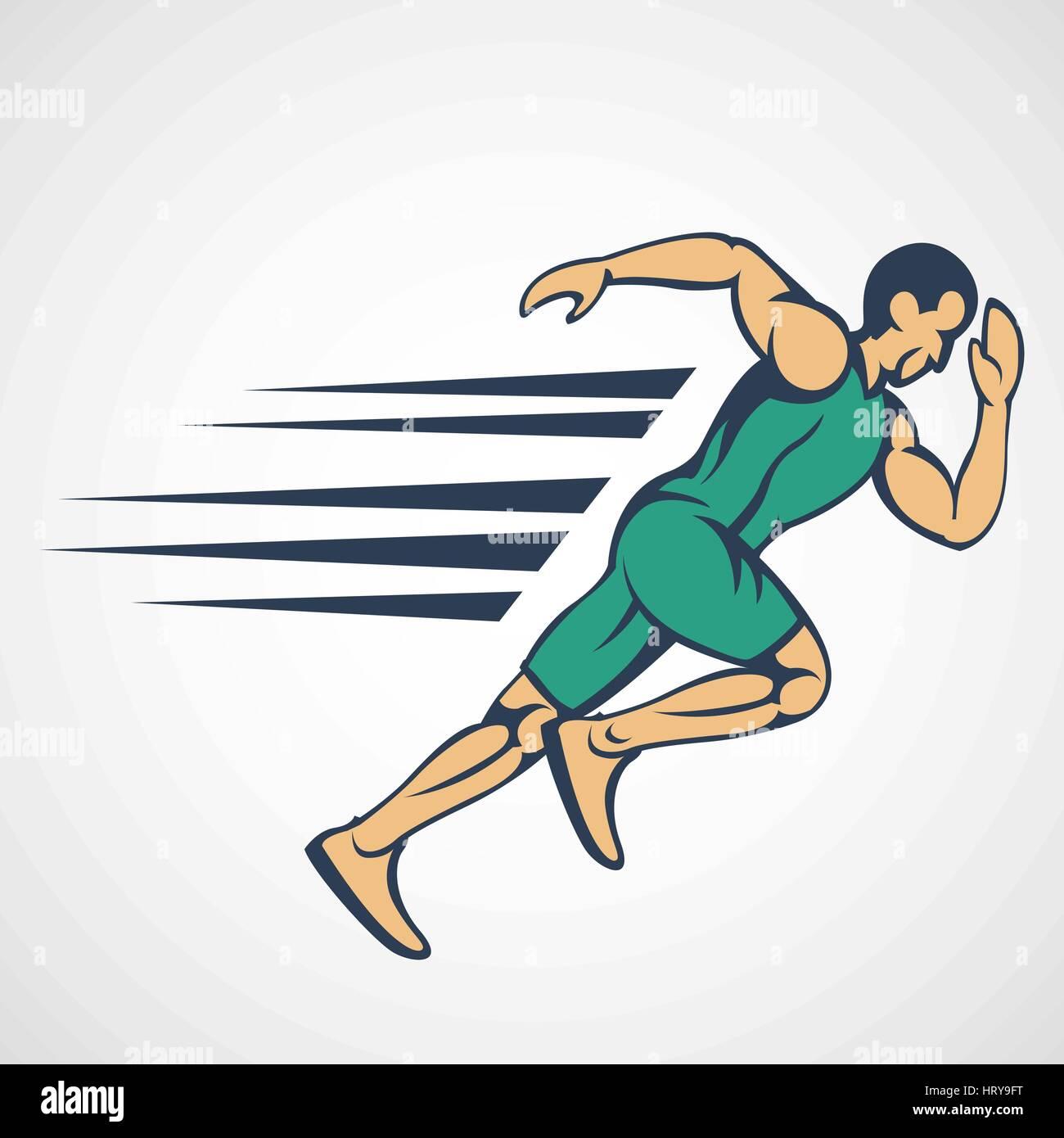 run running man icon logo vector stock vector art