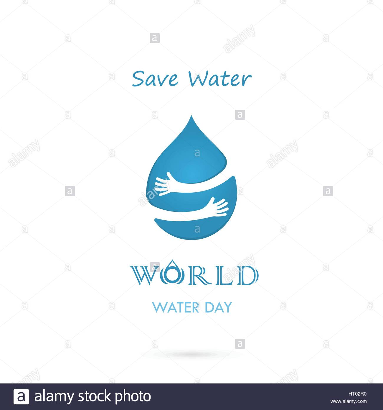 Poster design on save water - Stock Vector Water Drop With Human Hand Vector Logo Design Template World Water Day Idea Campaign For Greeting Card And Poster Vector Illustration