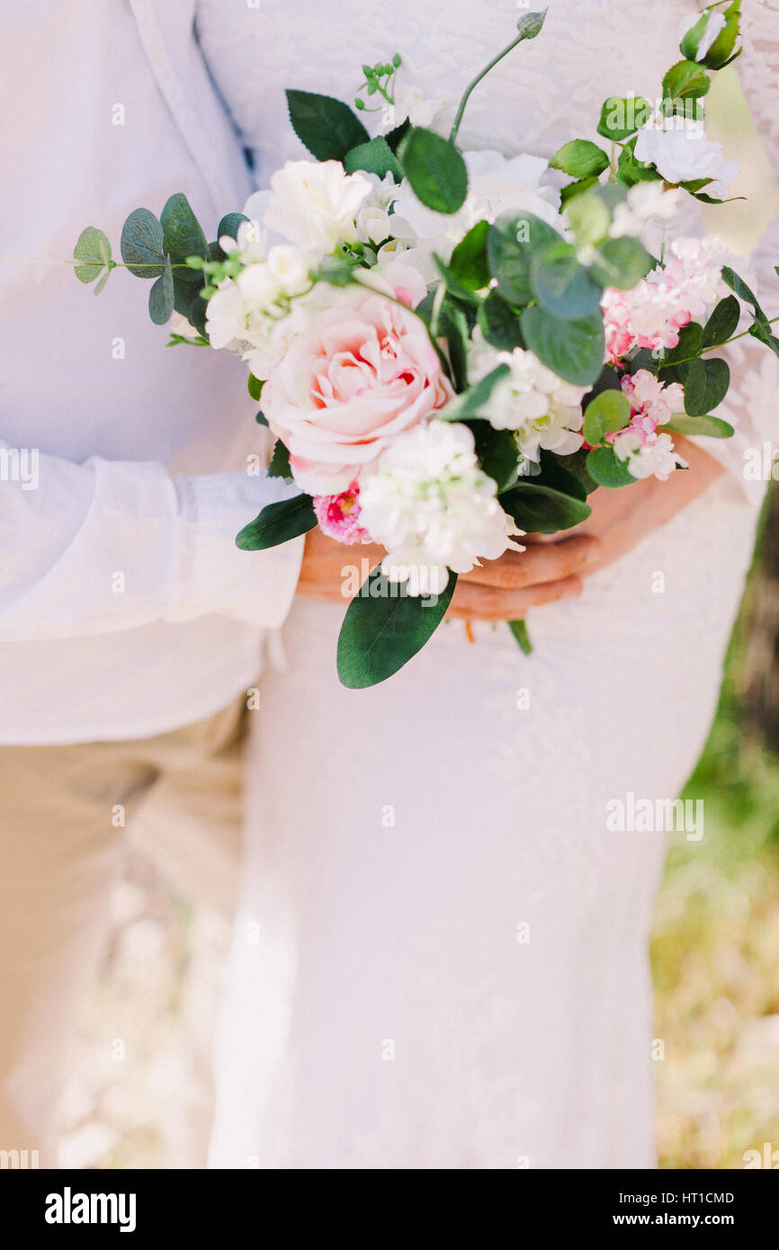Wedding Bouquet Orchids And Peonies Fine Art Flowers