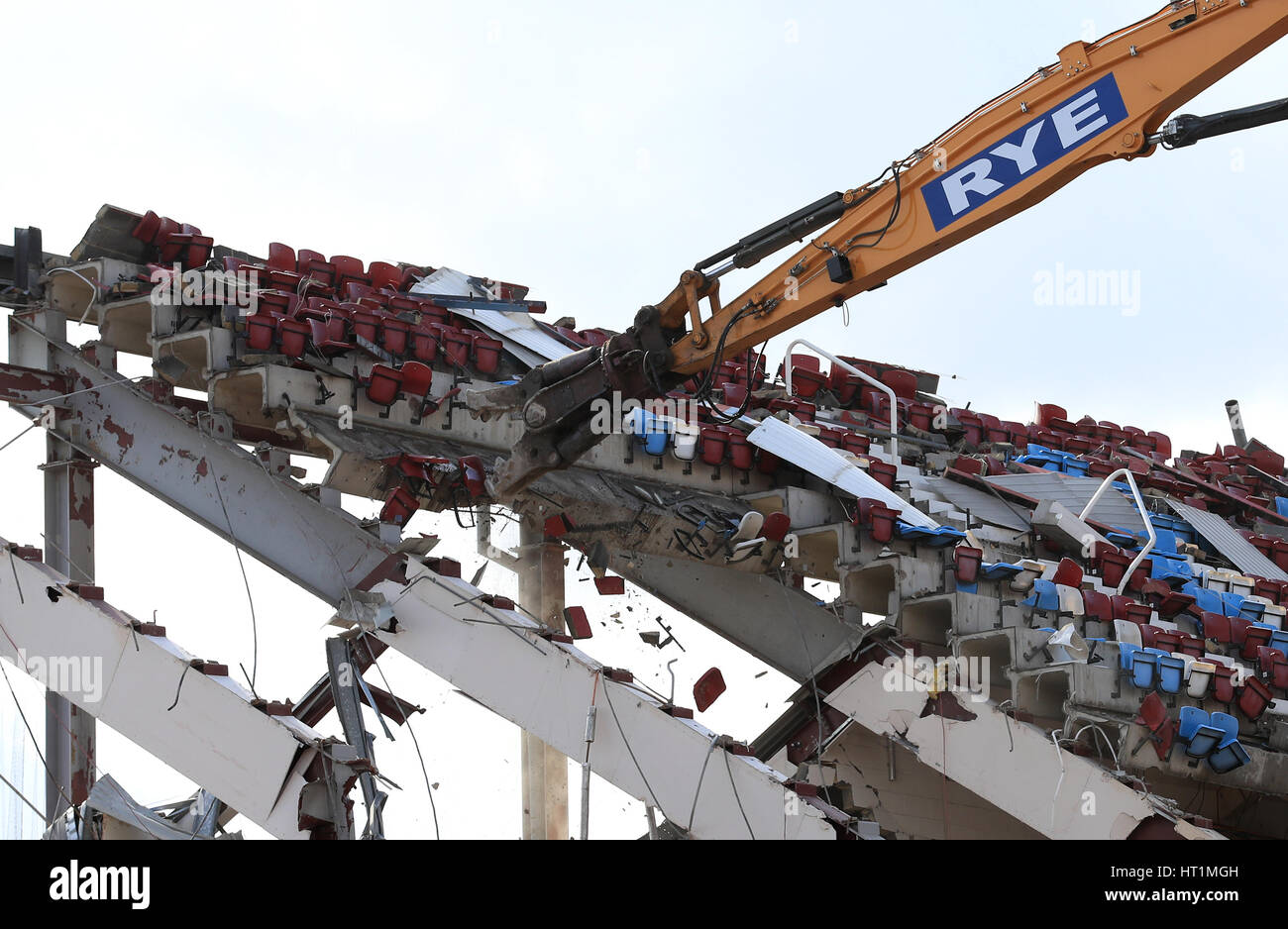 Demolition continues at the Boleyn Ground as West Ham's ...