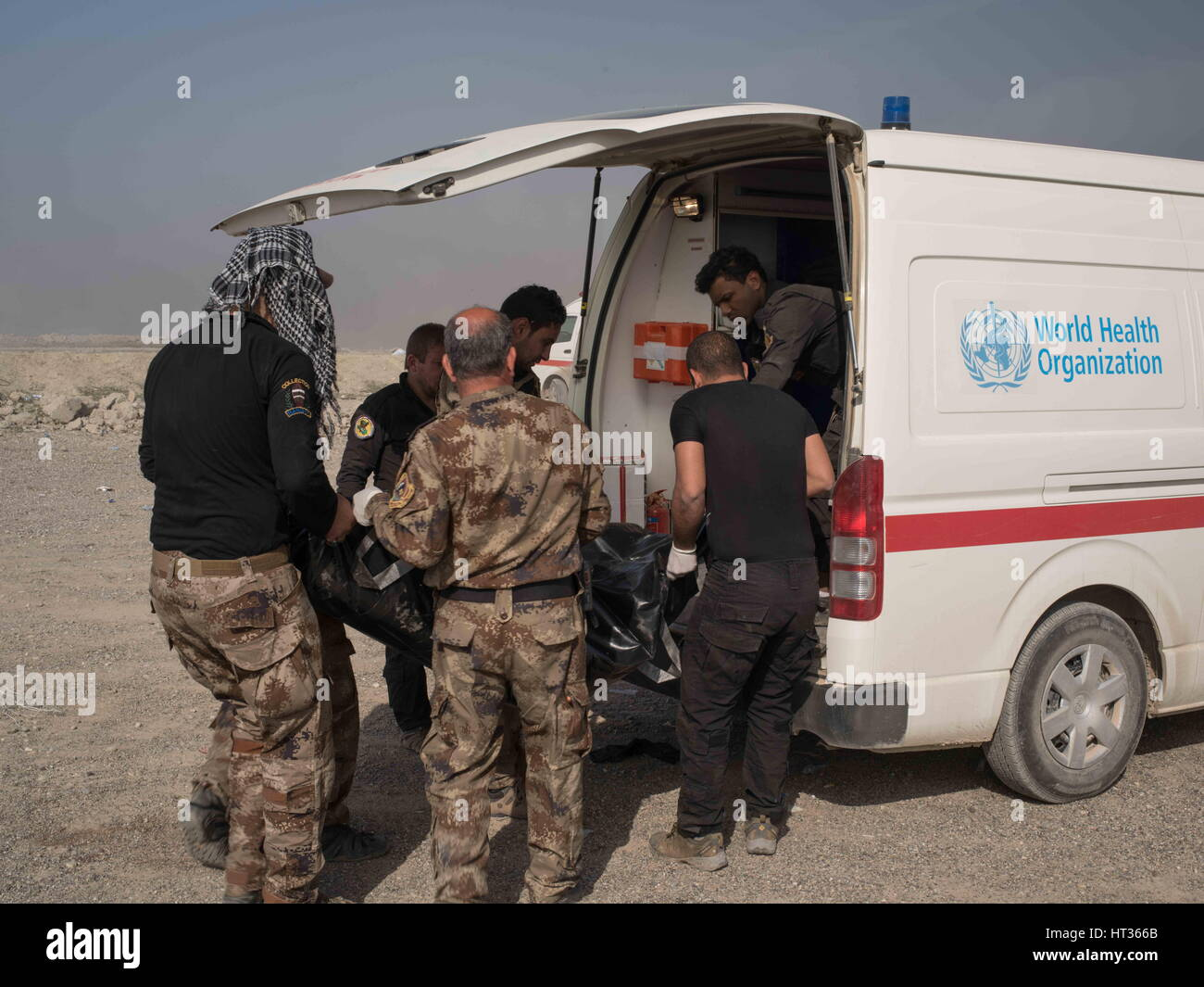 Mosul nineveh iraq 1st mar 2017 iraqi special forces medic mosul nineveh iraq 1st mar 2017 iraqi special forces medic load the body of a soldier killed in action into an ambulance at a division aid station in publicscrutiny Gallery