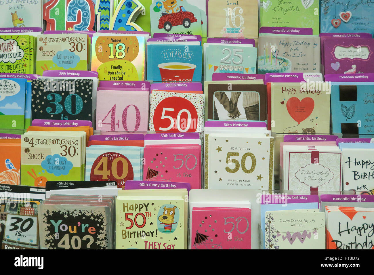 Milestone birthday cards at kmart nyc usa stock photo 135300566 milestone birthday cards at kmart nyc usa kristyandbryce Image collections