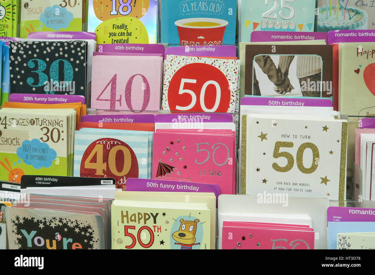 Milestone birthday cards at kmart nyc usa stock photo 135300572 milestone birthday cards at kmart nyc usa kristyandbryce Image collections