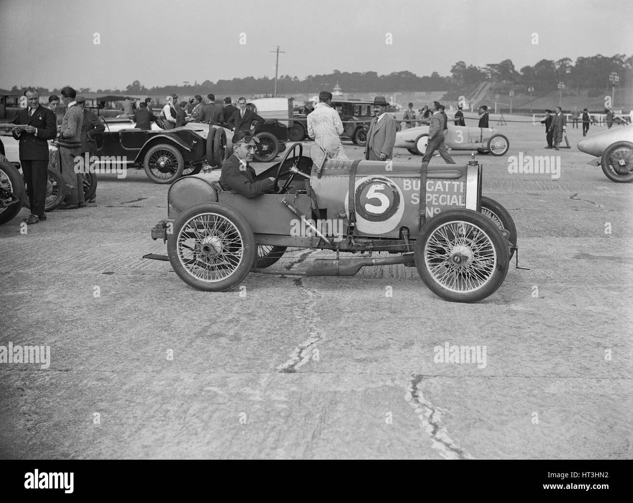 Bugatti of jr jeffery winner of a race at a surbiton for National motor club compensation plan
