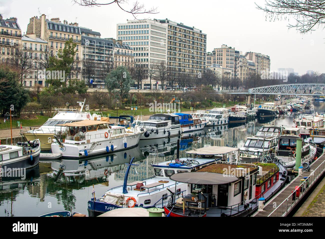 Paris 75 4e arr port de l 39 arsenal ou bassin de l - Port de l arsenal paris ...