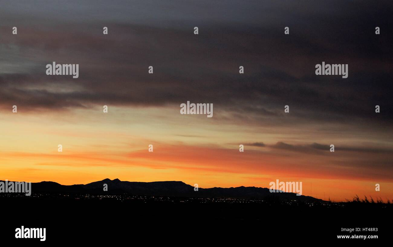 Mountain sunrise on sandia mountains in new mexico stock photo mountain sunrise on sandia mountains in new mexico sciox Choice Image