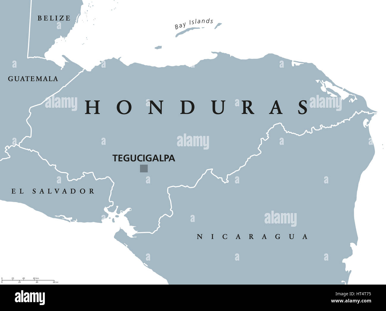 Honduras political map with capital tegucigalpa national borders honduras political map with capital tegucigalpa national borders and neighbors republic and country in central america spanish honduras gray illus gumiabroncs Image collections