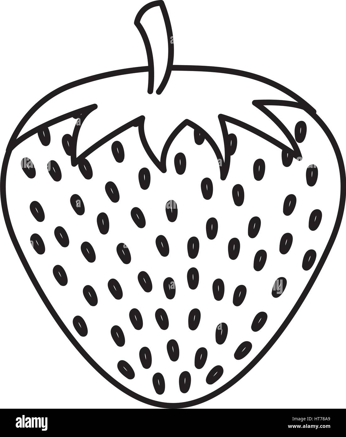 Uncategorized Drawing Of Strawberry strawberry fresh fruit drawing icon stock vector art icon