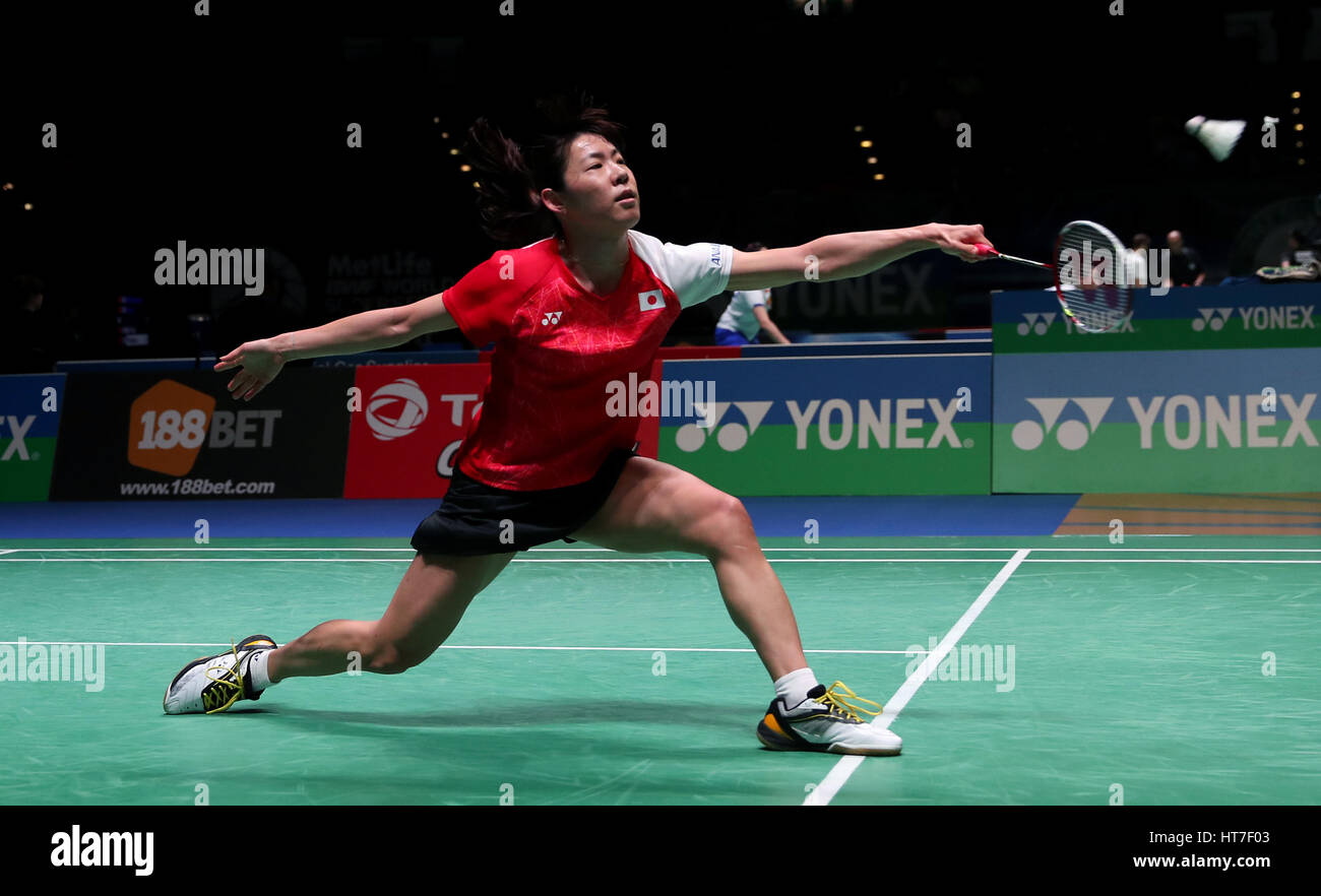 Japan s Sayaka Sato in action during round one of the Women s