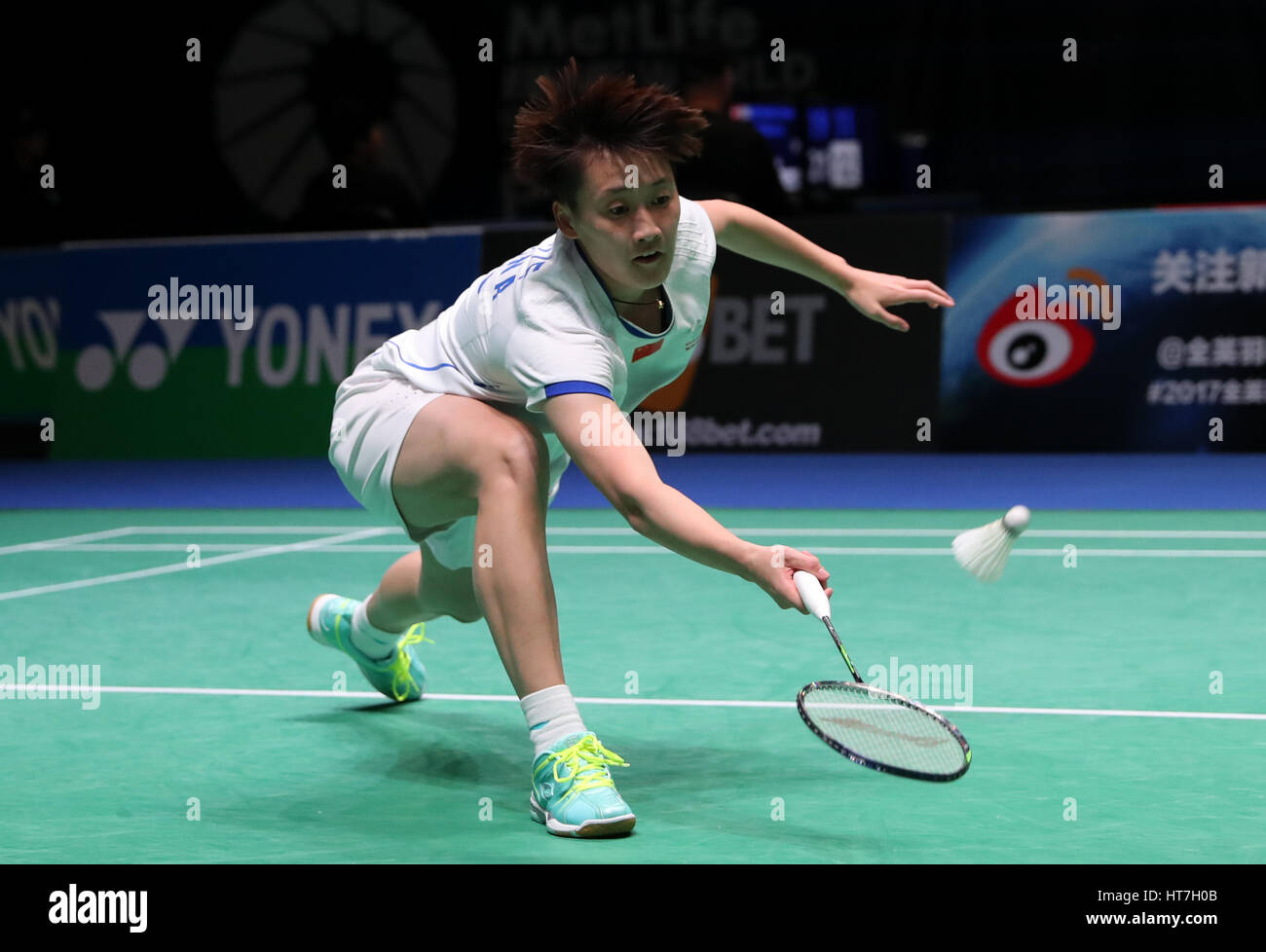 China s Chen Yufei in action during the Women s Singles match