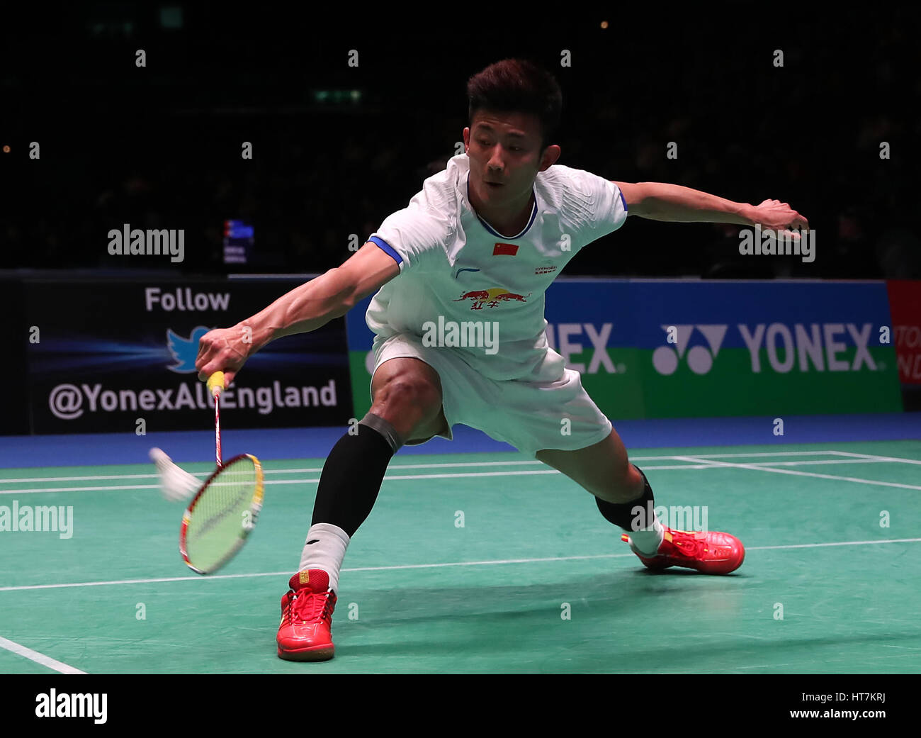 China s Chen Long in action during the Men s singles match during