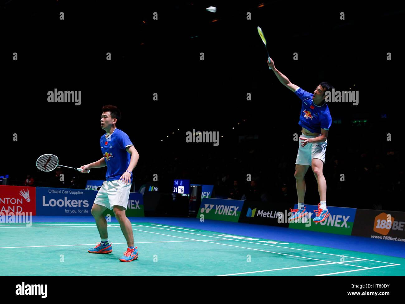 Birmingham 8th Mar 2017 China s Lu Kai Zheng Siwei L pete