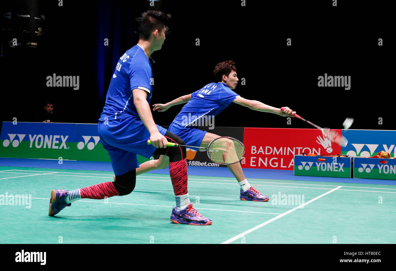 Birmingham 8th Mar 2017 China s Li Junhui R Liu Yuchen