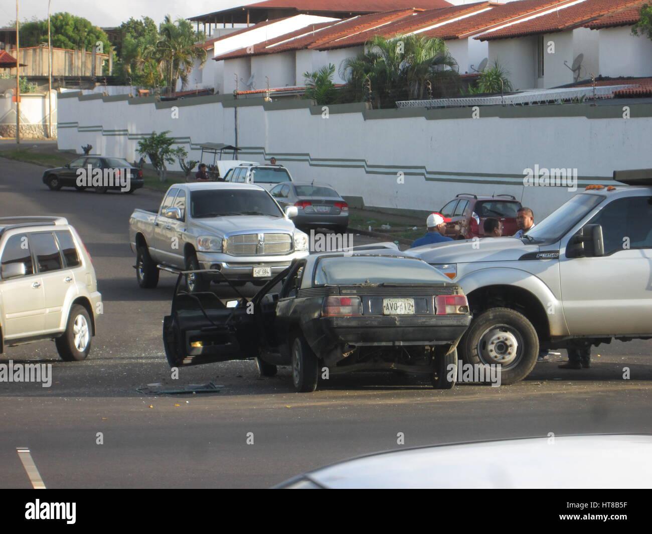 Stock Photo - Typical car crash in Venezuela. Renault fuego and ford f350 & Typical car crash in Venezuela. Renault fuego and ford f350 Stock ... markmcfarlin.com