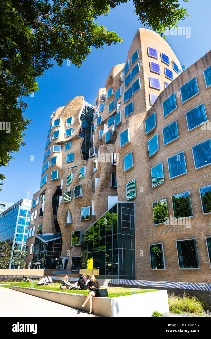 Stock Photo - The first building in Australia designed by one of the worlds most  influential architects Frank Gehry. Its named after Dr Chau Chak