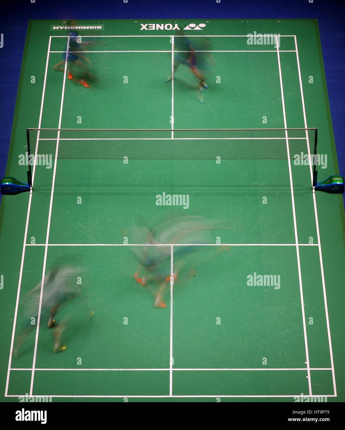 China s Huang Kaixiang and Wang Yilyu during their Women s doubles