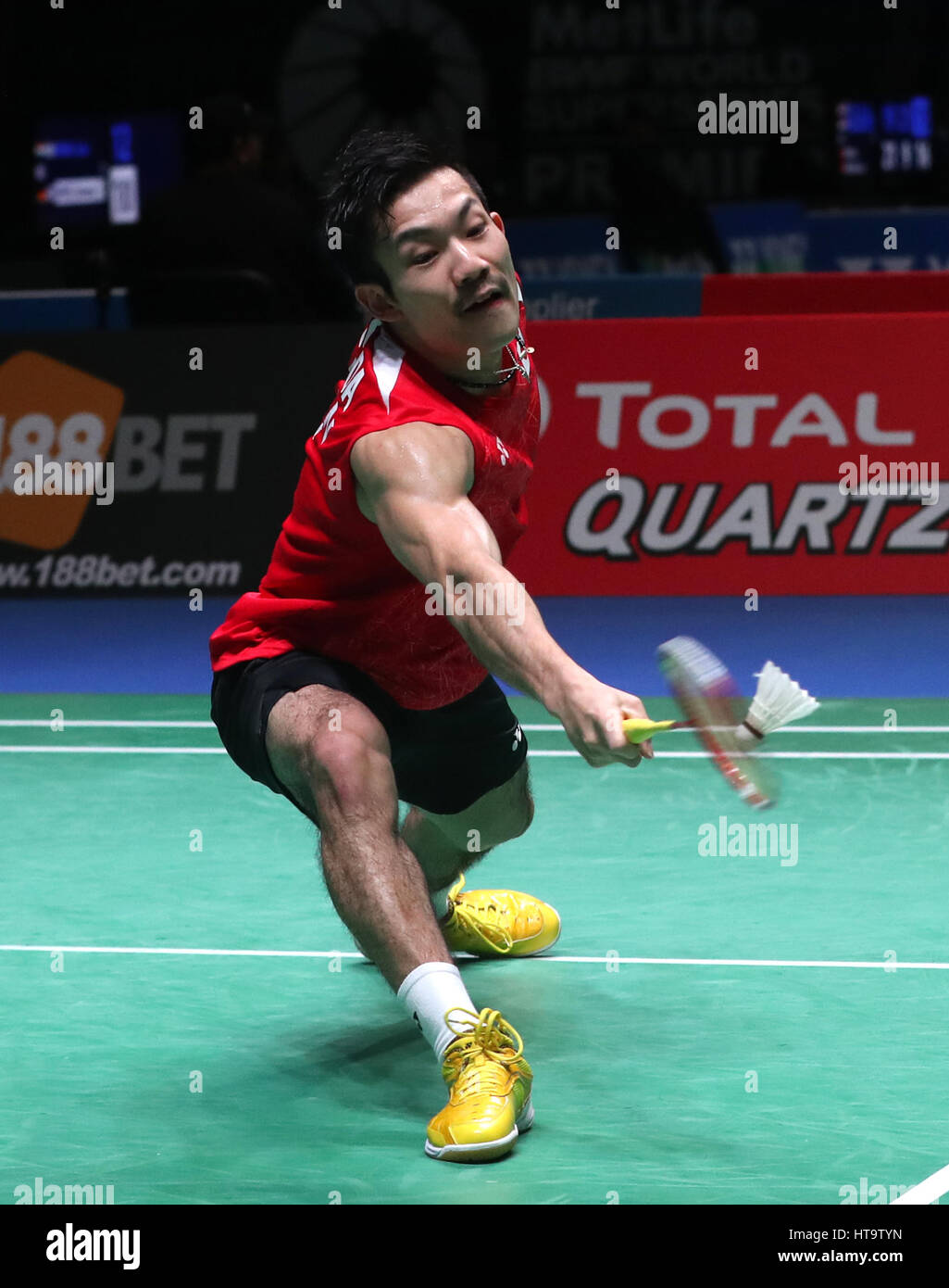 Japan s Keigo Sonoda during his Men s doubles match during day