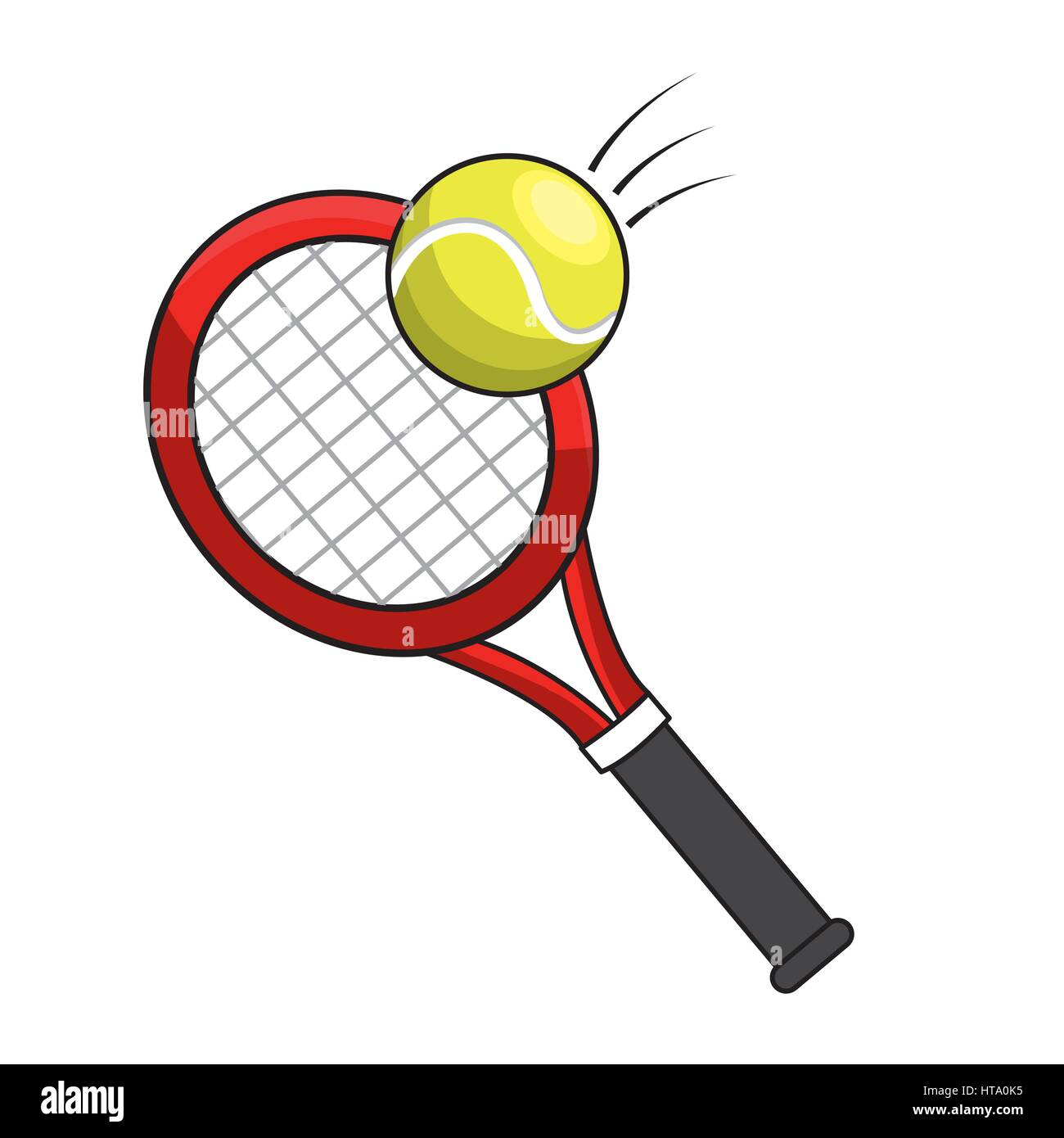 color racket and tennis ball icon stock vector art